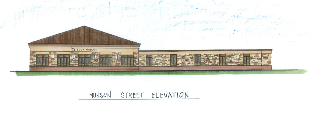 Canton New Building - Munson Street Elevation